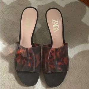 Zara leopard heels